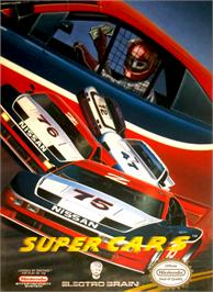 Box cover for Super Cars on the Nintendo NES.