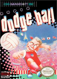 Box cover for Super Dodge Ball on the Nintendo NES.