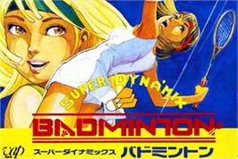 Box cover for Super Dyna'mix Badminton on the Nintendo NES.