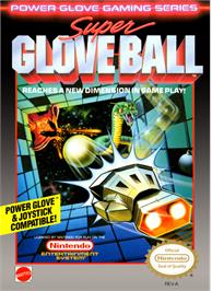 Box cover for Super Glove Ball on the Nintendo NES.