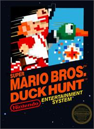 Box cover for Super Mario Bros.& Duck Hunt on the Nintendo NES.