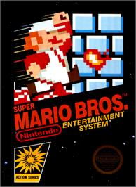 Box cover for Super Mario Bros. on the Nintendo NES.