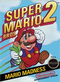 Box cover for Super Mario Bros. 2 on the Nintendo NES.
