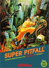 Box cover for Super Pitfall on the Nintendo NES.
