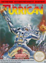 Box cover for Super Turrican on the Nintendo NES.