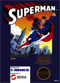 Box cover for Superman on the Nintendo NES.