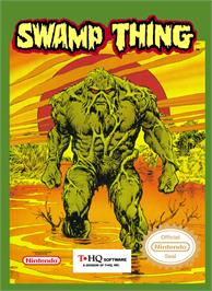 Box cover for Swamp Thing on the Nintendo NES.