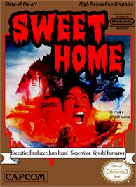 Box cover for Sweet Home on the Nintendo NES.