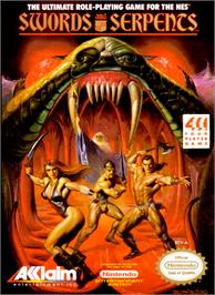 Box cover for Swords and Serpents on the Nintendo NES.