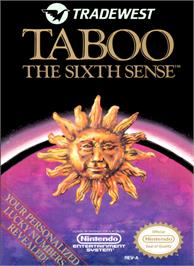 Box cover for Taboo: The Sixth Sense on the Nintendo NES.