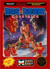 Box cover for Tag Team Wrestling on the Nintendo NES.