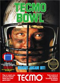 Box cover for Tecmo Bowl on the Nintendo NES.