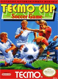 Box cover for Tecmo Cup on the Nintendo NES.