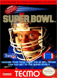 Box cover for Tecmo Super Bowl on the Nintendo NES.