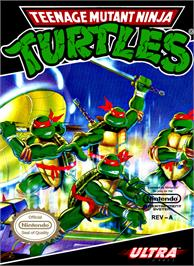 Box cover for Teenage Mutant Ninja Turtles on the Nintendo NES.