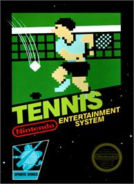 Box cover for Tennis on the Nintendo NES.