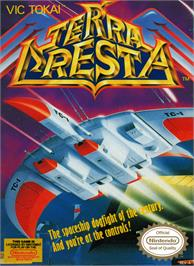 Box cover for Terra Cresta on the Nintendo NES.