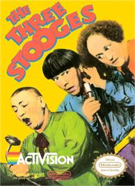 Box cover for Three Stooges on the Nintendo NES.