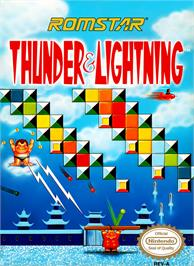 Box cover for Thunder & Lightning on the Nintendo NES.