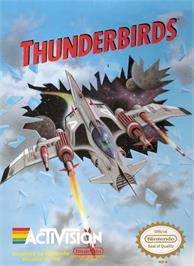Box cover for Thunderbirds on the Nintendo NES.