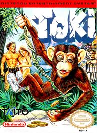 Box cover for Toki: Going Ape Spit on the Nintendo NES.