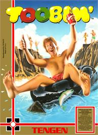 Box cover for Toobin' on the Nintendo NES.