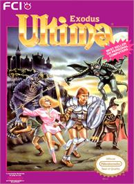 Box cover for Ultima III: Exodus on the Nintendo NES.
