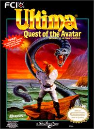 Box cover for Ultima IV: Quest of the Avatar on the Nintendo NES.