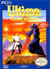 Box cover for Ultima V: Warriors of Destiny on the Nintendo NES.