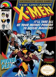 Box cover for Uncanny X-Men on the Nintendo NES.