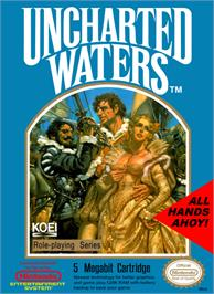 Box cover for Uncharted Waters on the Nintendo NES.