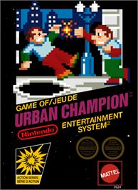 Box cover for Urban Champion on the Nintendo NES.