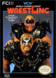 Box cover for WCW: World Championship Wrestling on the Nintendo NES.