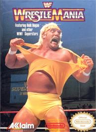 Box cover for WWF Wrestlemania on the Nintendo NES.