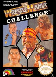 Box cover for WWF Wrestlemania Challenge on the Nintendo NES.