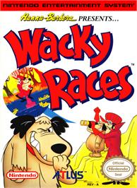 Box cover for Wacky Races on the Nintendo NES.