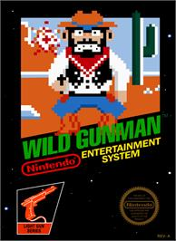 Box cover for Wild Gunman on the Nintendo NES.