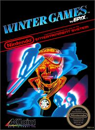Box cover for Winter Games on the Nintendo NES.