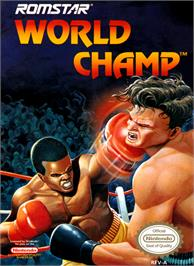 Box cover for World Champ:  Super Boxing Great Fight on the Nintendo NES.