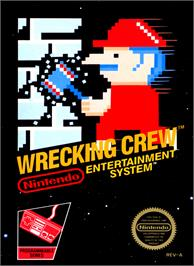 Box cover for Wrecking Crew on the Nintendo NES.