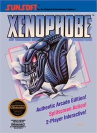 Box cover for Xenophobe on the Nintendo NES.