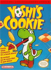Box cover for Yoshi's Cookie on the Nintendo NES.