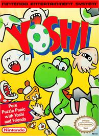 Box cover for Yoshi on the Nintendo NES.