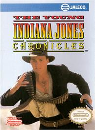 Box cover for Young Indiana Jones Chronicles on the Nintendo NES.