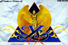 Box cover for Ys on the Nintendo NES.