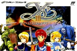 Box cover for Ys III: Wanderers from Ys on the Nintendo NES.