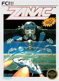Box cover for Zanac A.I. on the Nintendo NES.
