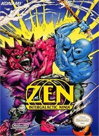 Box cover for Zen: Intergalactic Ninja on the Nintendo NES.