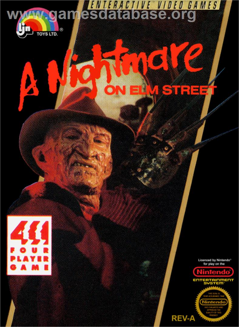 A Nightmare on Elm Street - Nintendo NES - Artwork - Box