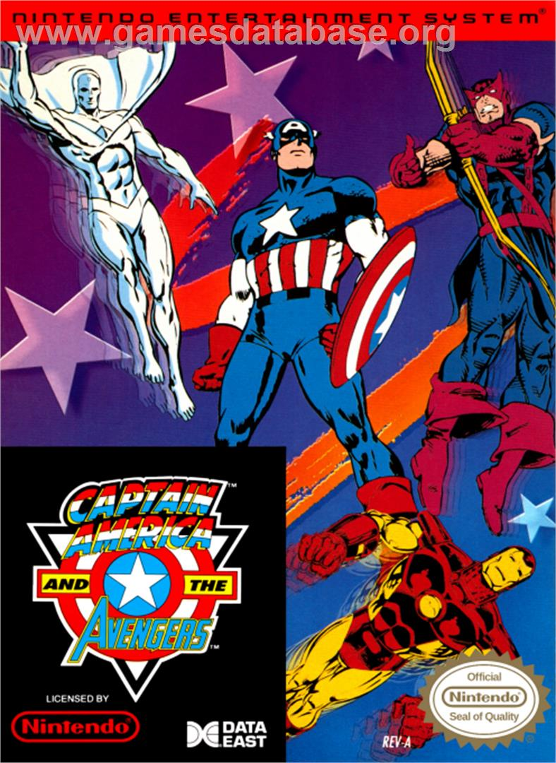 Captain America and The Avengers - Nintendo NES - Artwork - Box